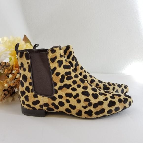71e10d1a8a7 Tory Burch Calf Hair Leopard Print Boots Sz 8 M